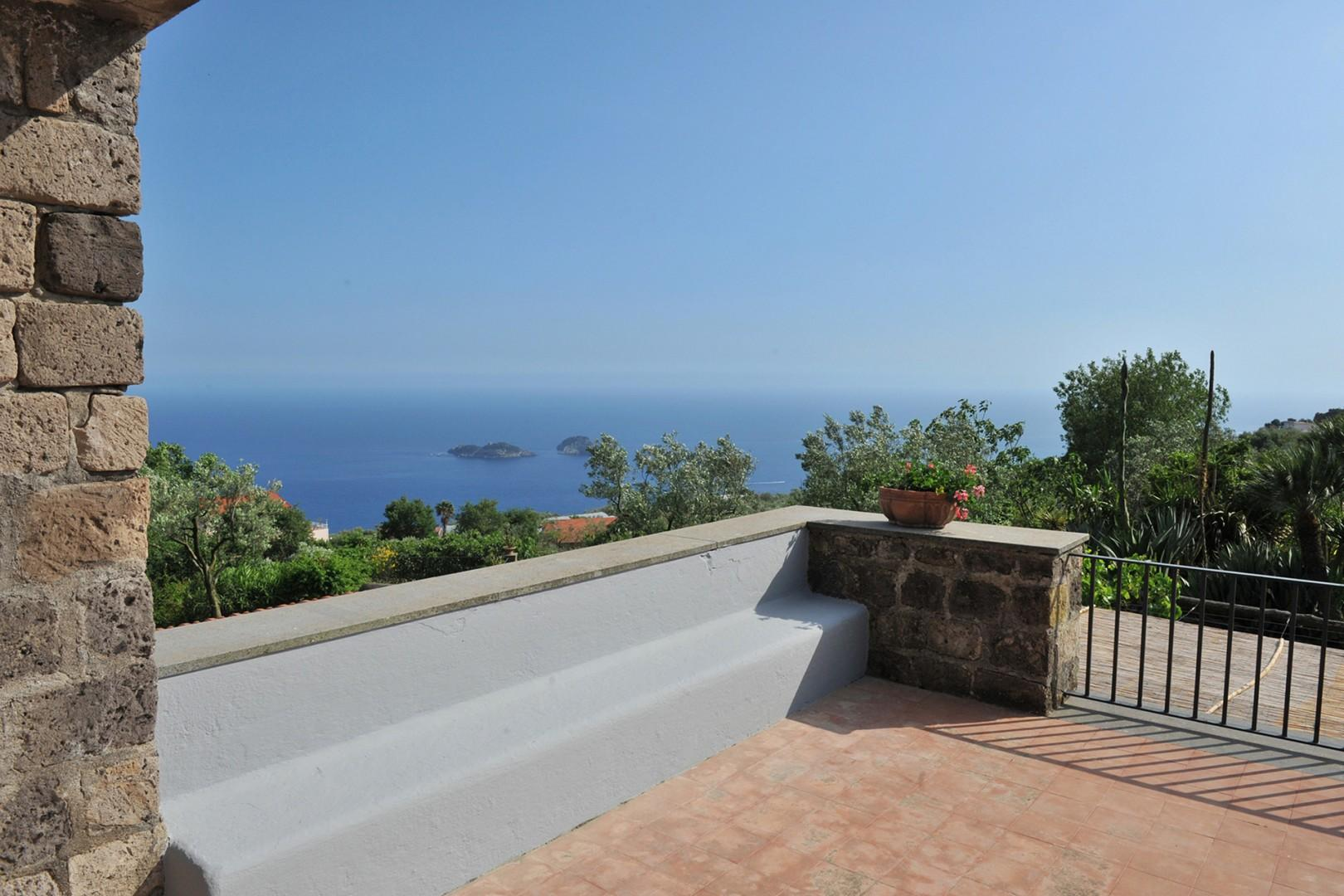 A large, sunny terrace reached from the exterior of the villa is right outside the two top bedrooms.