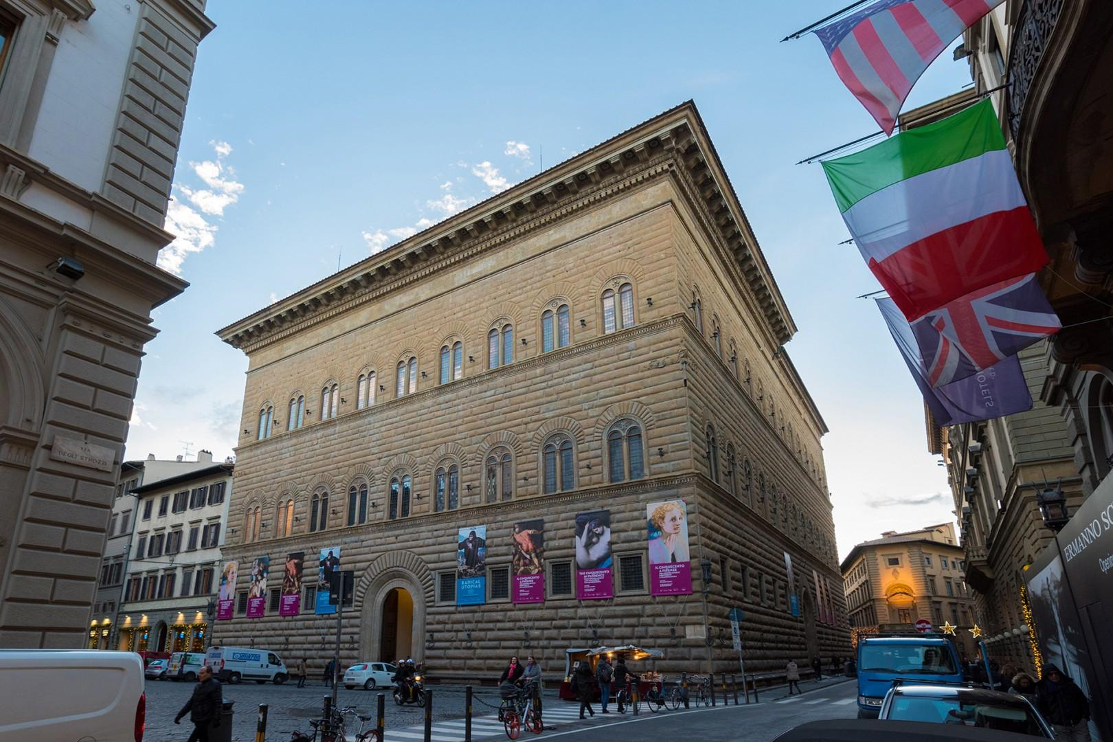 Palazzo Strozzi nearby is known for its architecture and wonderful exhibitions.