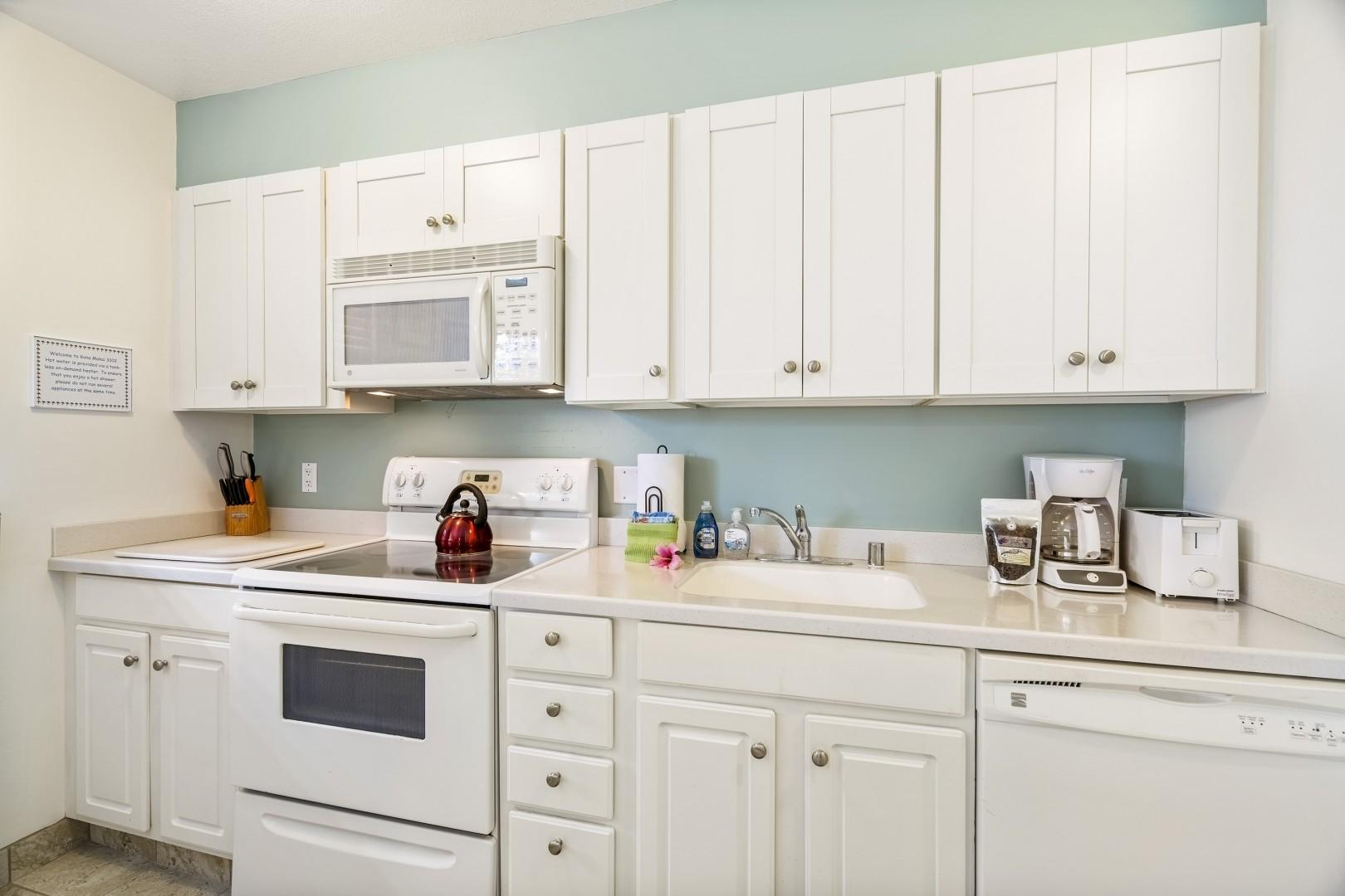 Fully equipped kitchen for all your meal preparation needs!