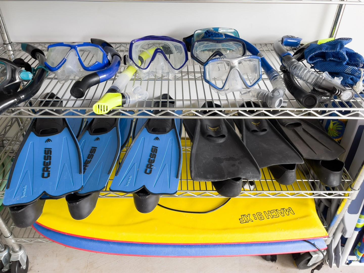 Snorkel Gear and Boogie Boards