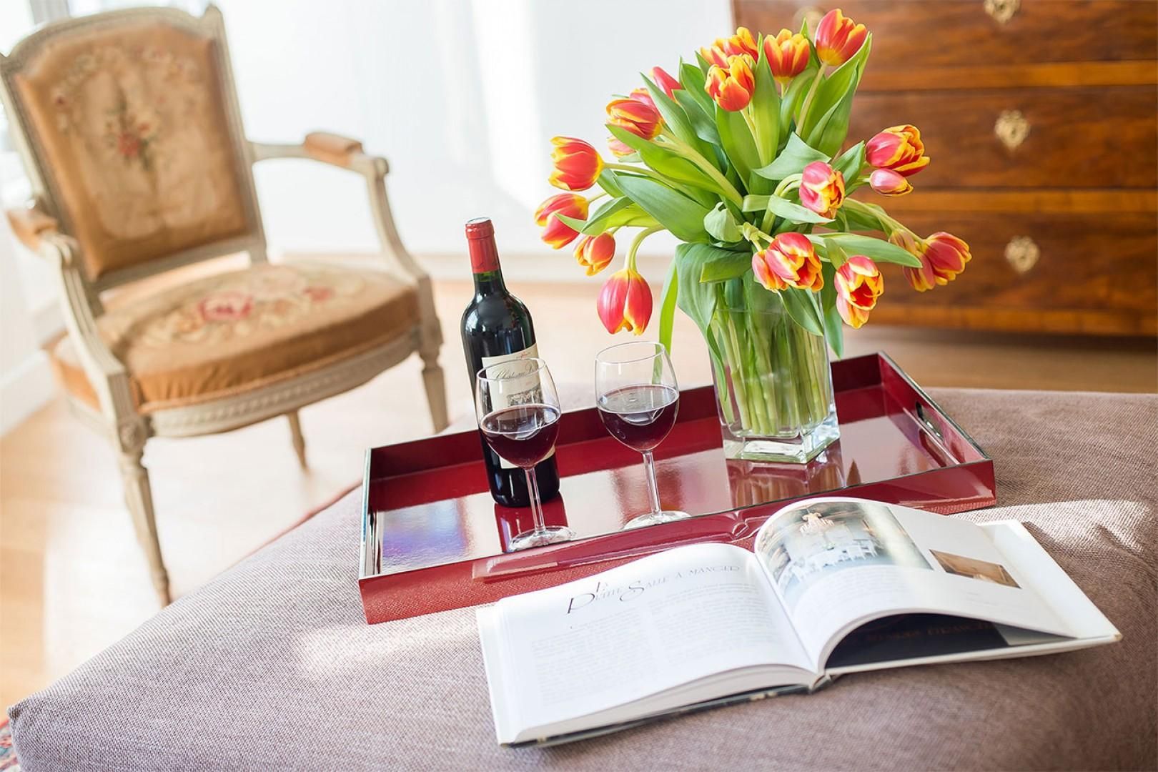 Toast your stay with some classic French wine!