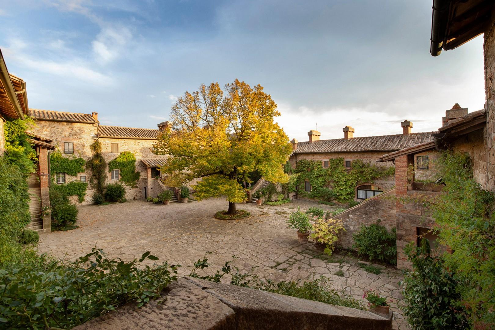 The courtyard of the Borgo estate welcomes you!