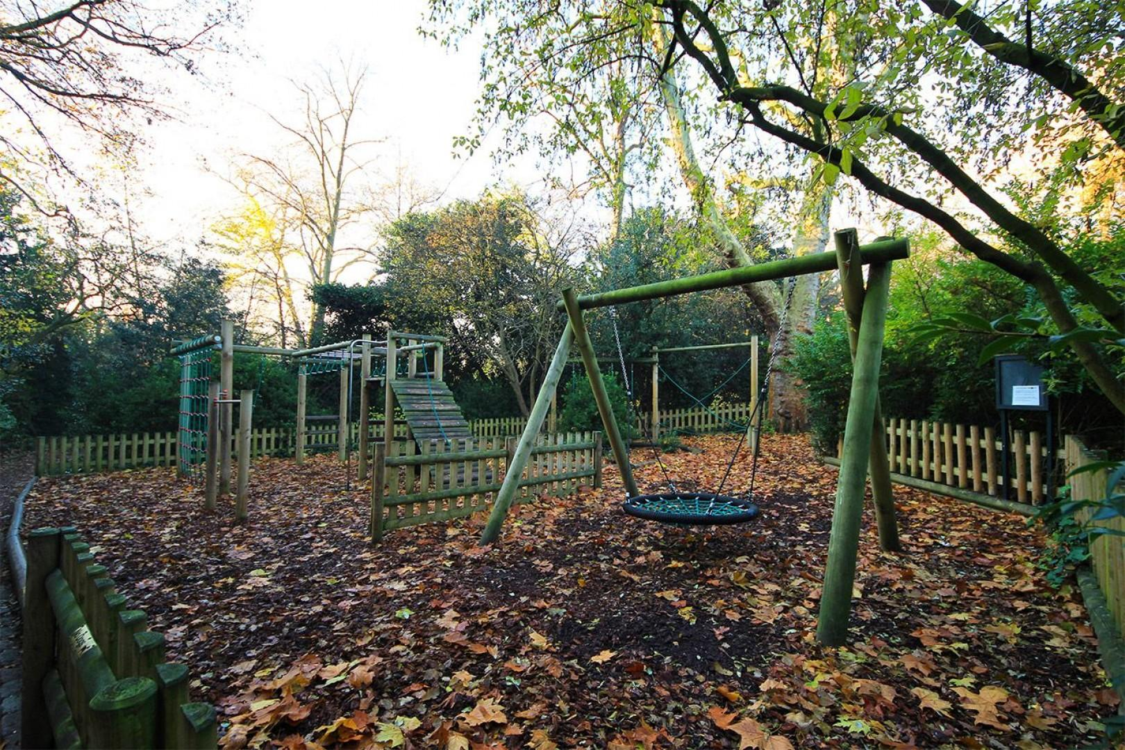 Playground in the local park is perfect for kids!