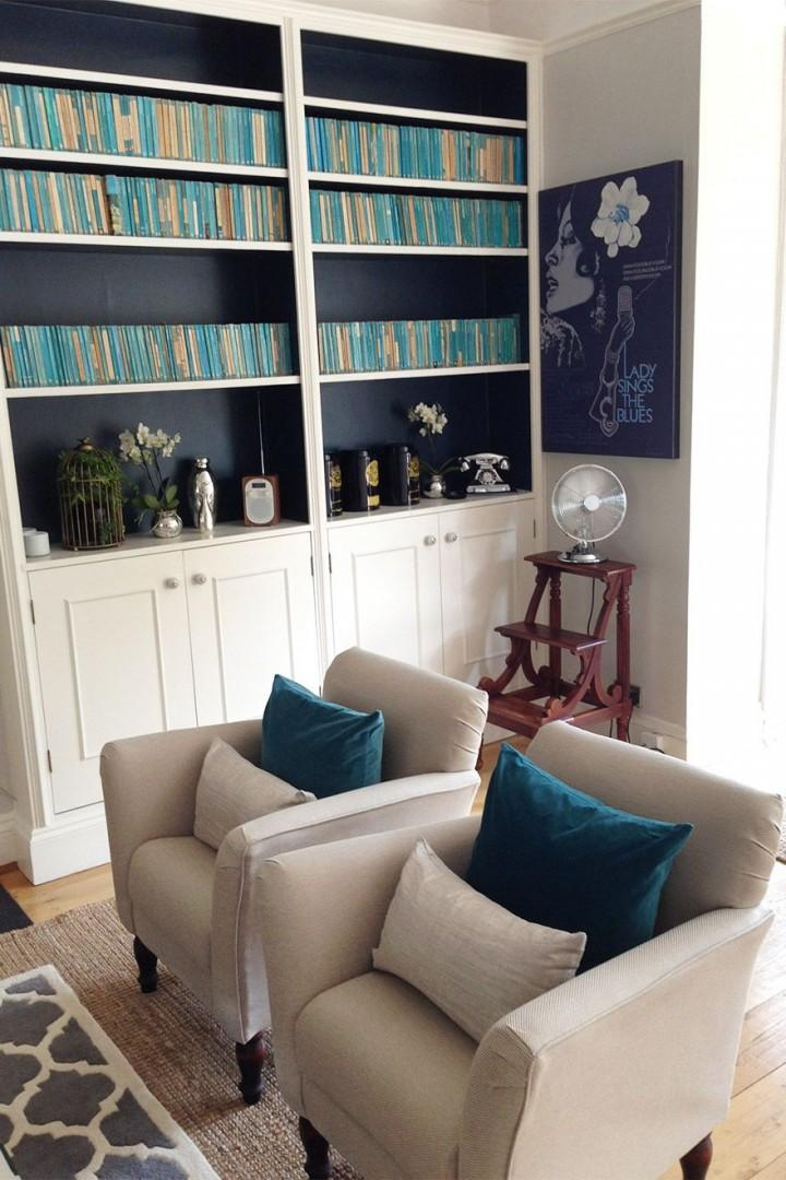 Plush armchairs complete the living space