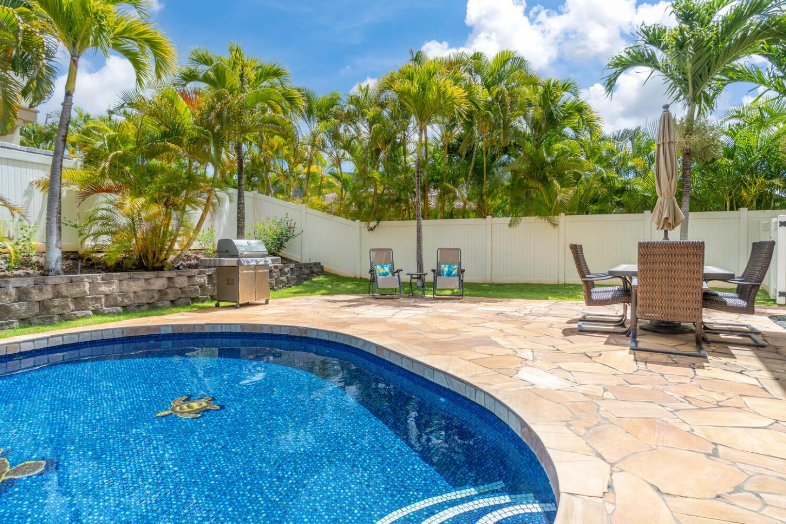 Large private saltwater pool