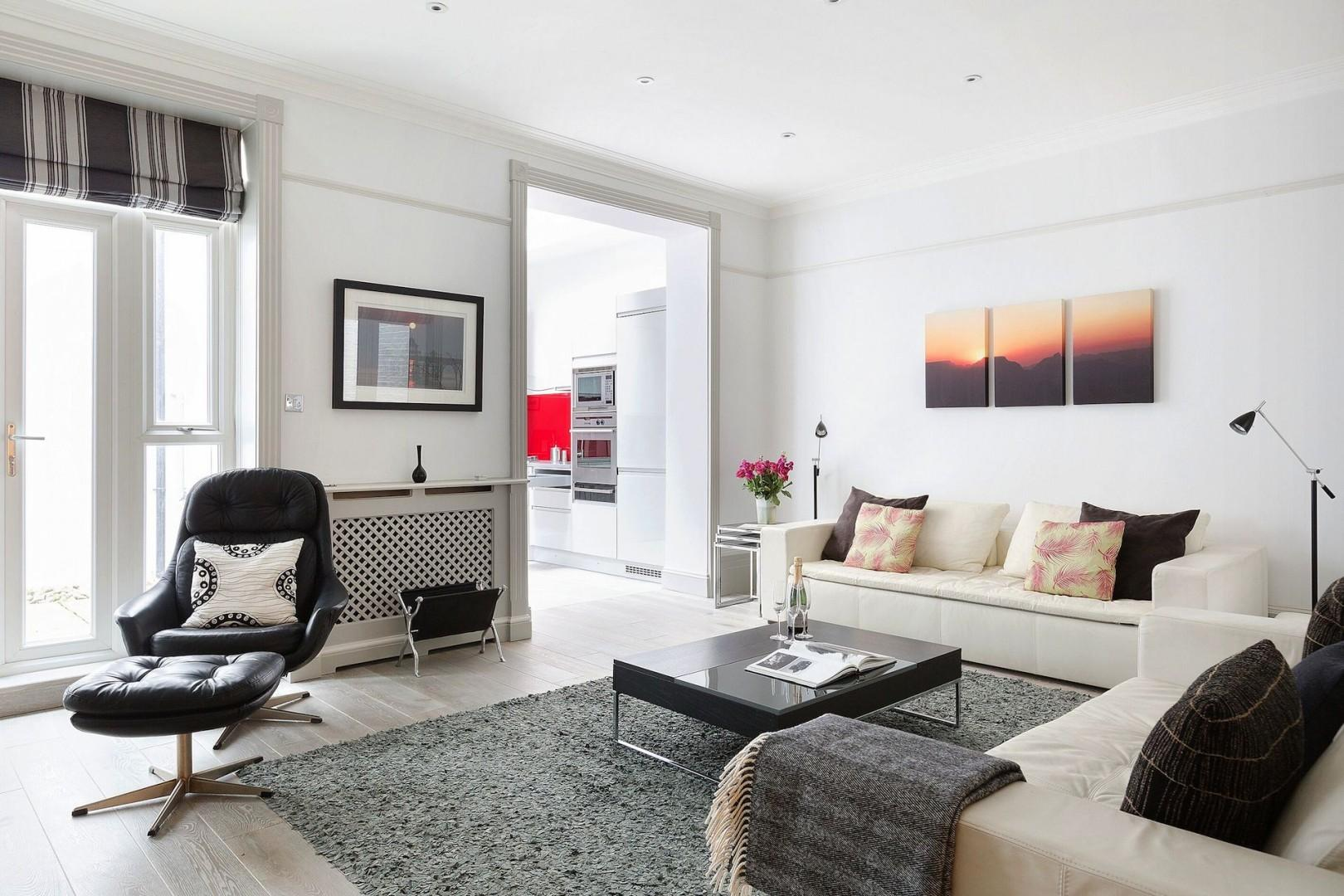 Natural light in the spacious living room