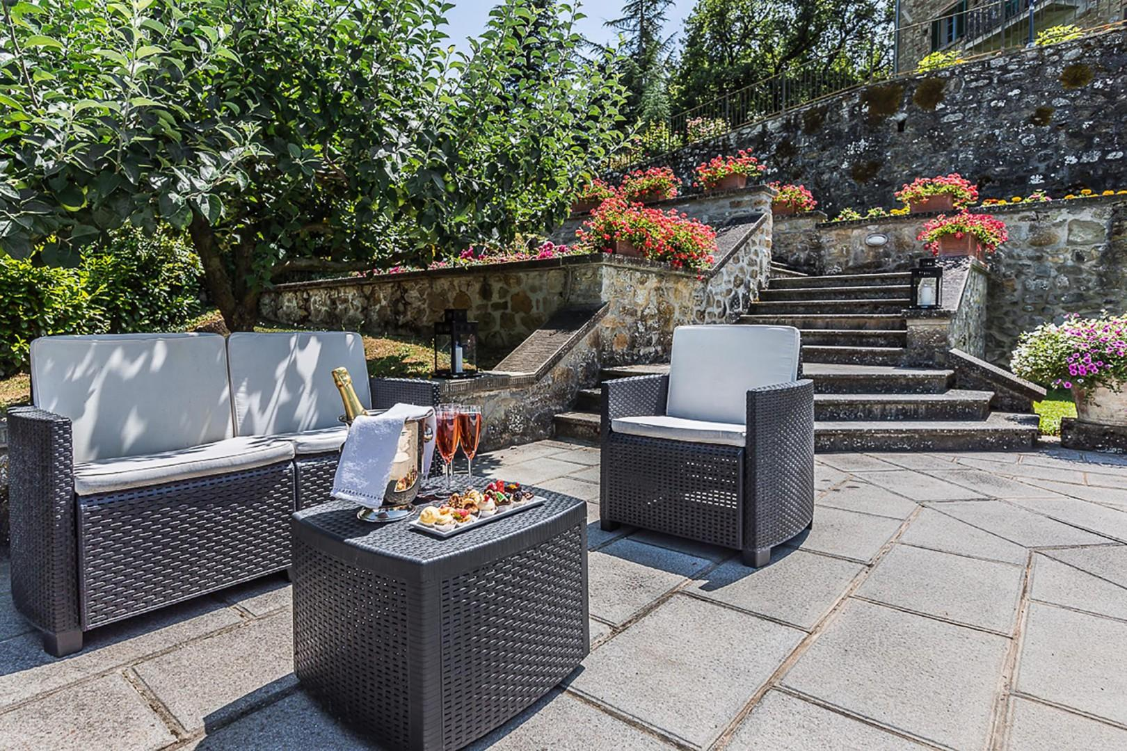 Enjoy the truly spectacular views from this outdoor seating area.