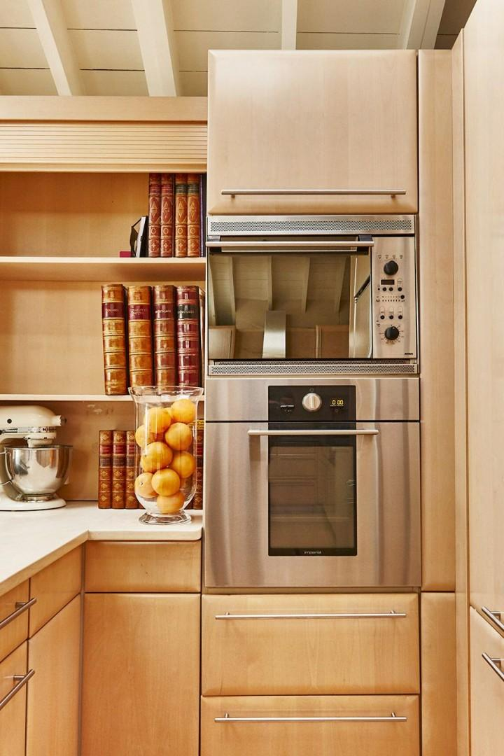 High end appliances in the kitchen