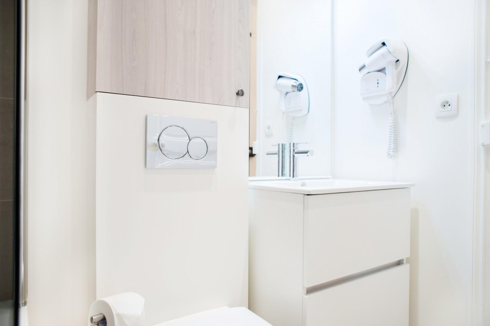 Enjoy high-end amenities in our comfortable bathrooms.