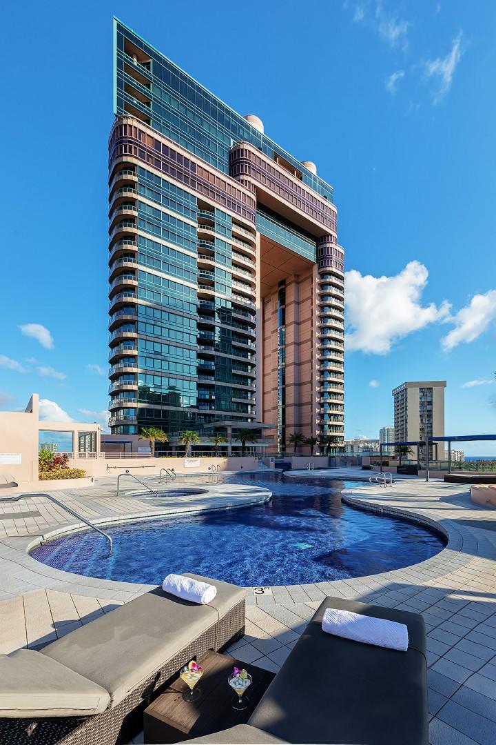 Waikiki Landmark Resort Size Pool and Adult Jacuzzi