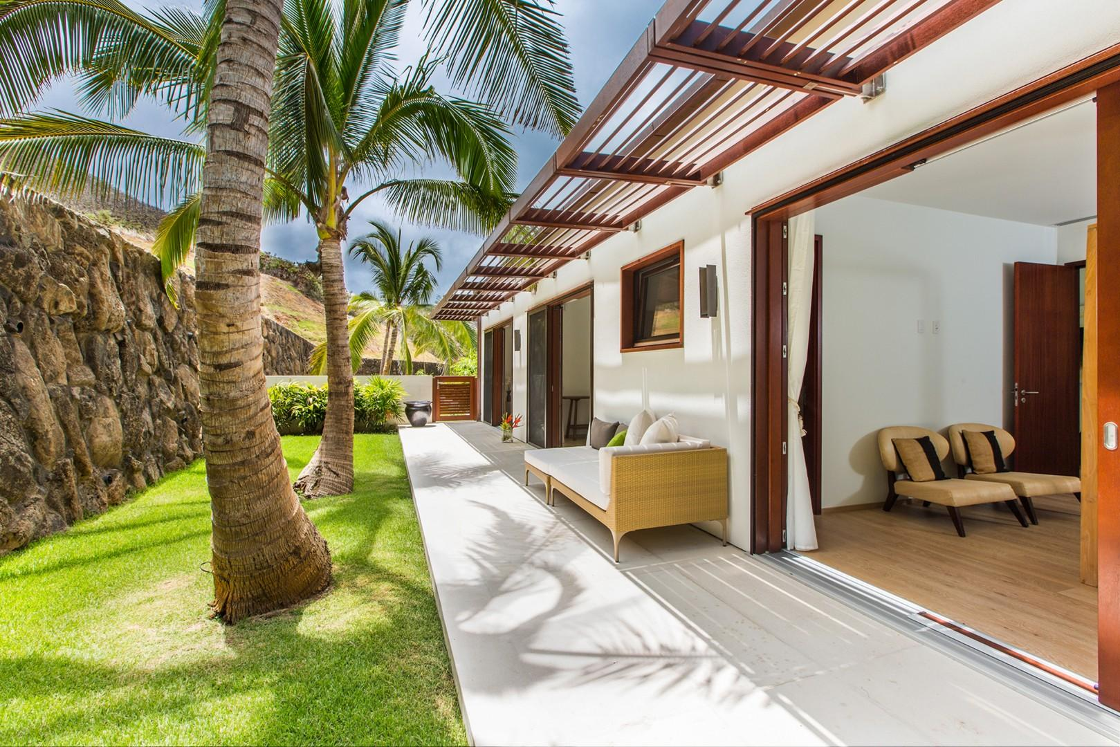 Guest Bedrooms shared lanai with mountain views