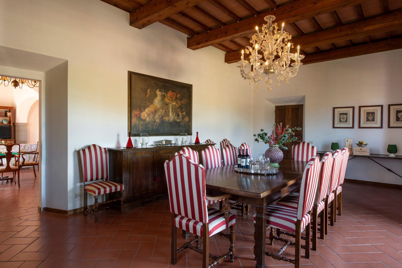 Elegant dining room seats 10.