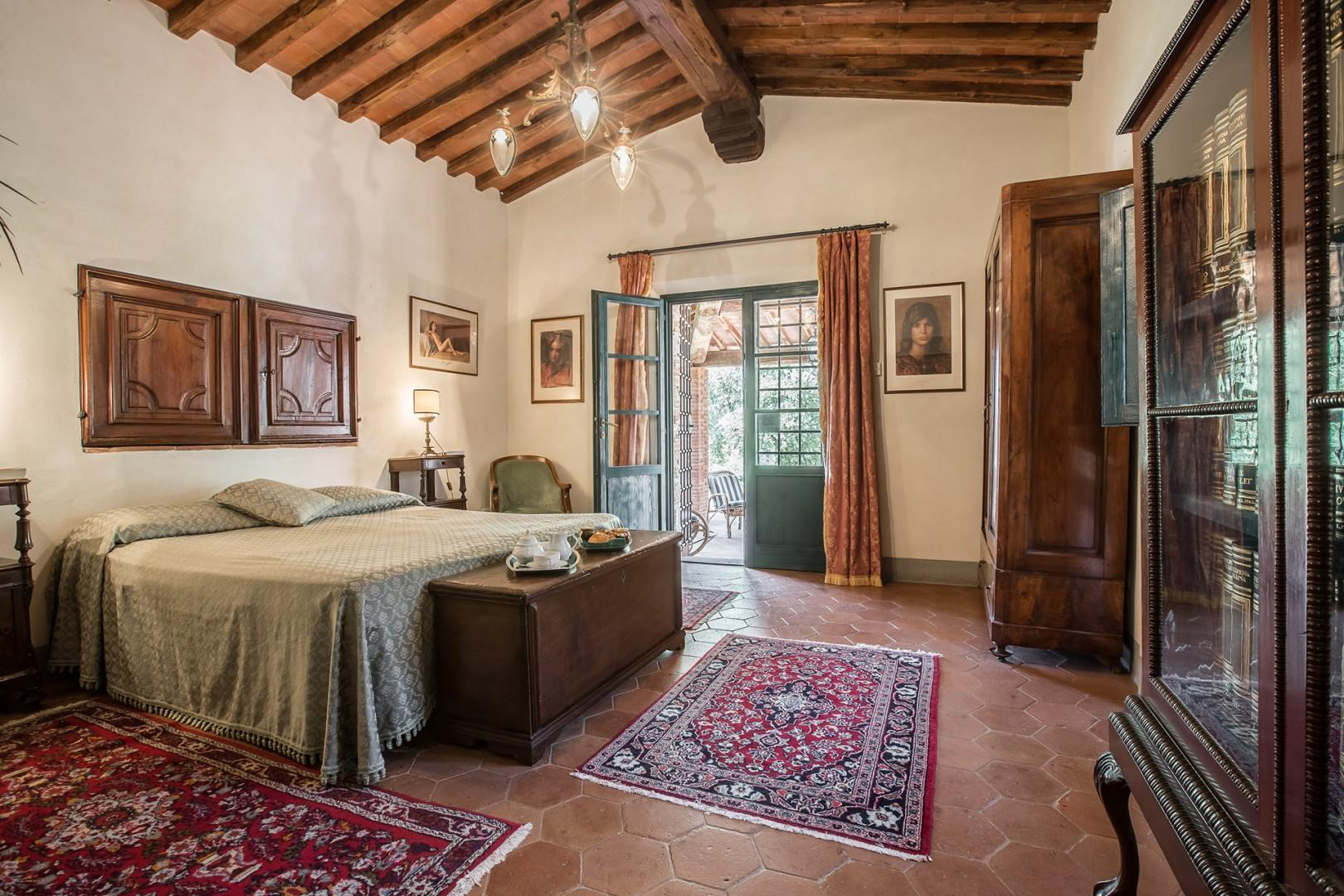 First floor bedroom 4 has French doors out to the terrace.