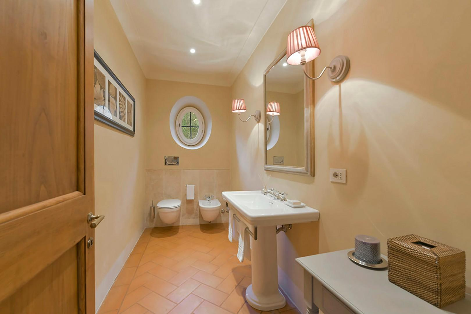 Half-bath on ground floor.