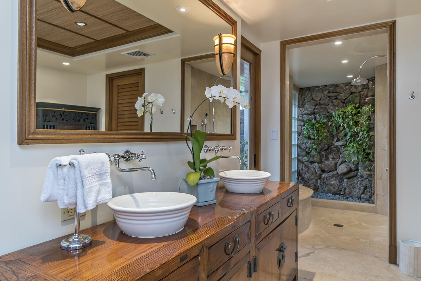 Guest house: Master Bathroom with walk in shower.