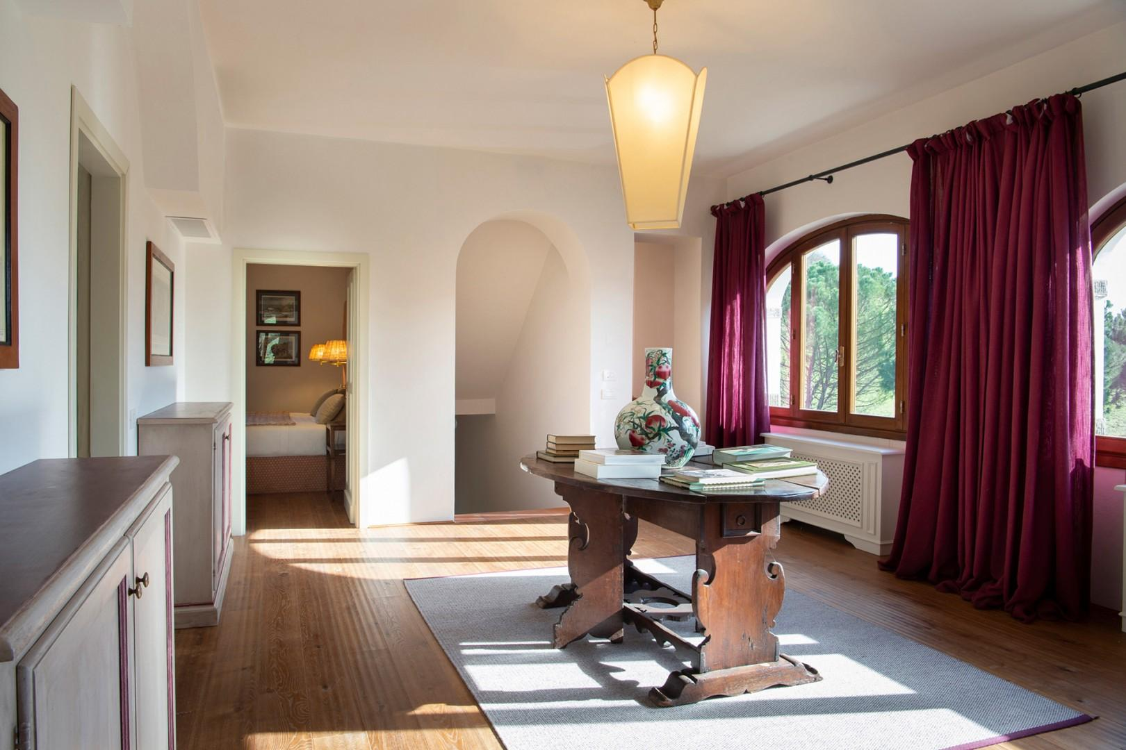Upstairs landing has terrific views as do all the upper bedrooms.
