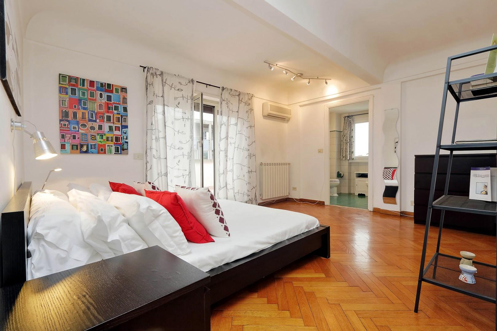Bedroom 2 is very large and also accommodates a foldaway single bed.
