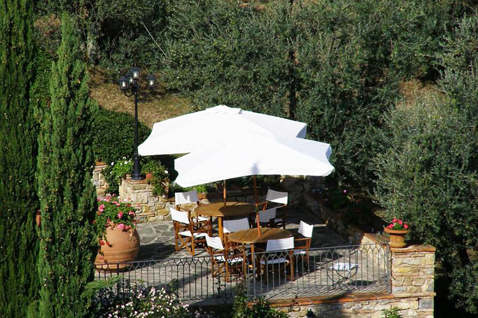 Terrace outside the restaurant.