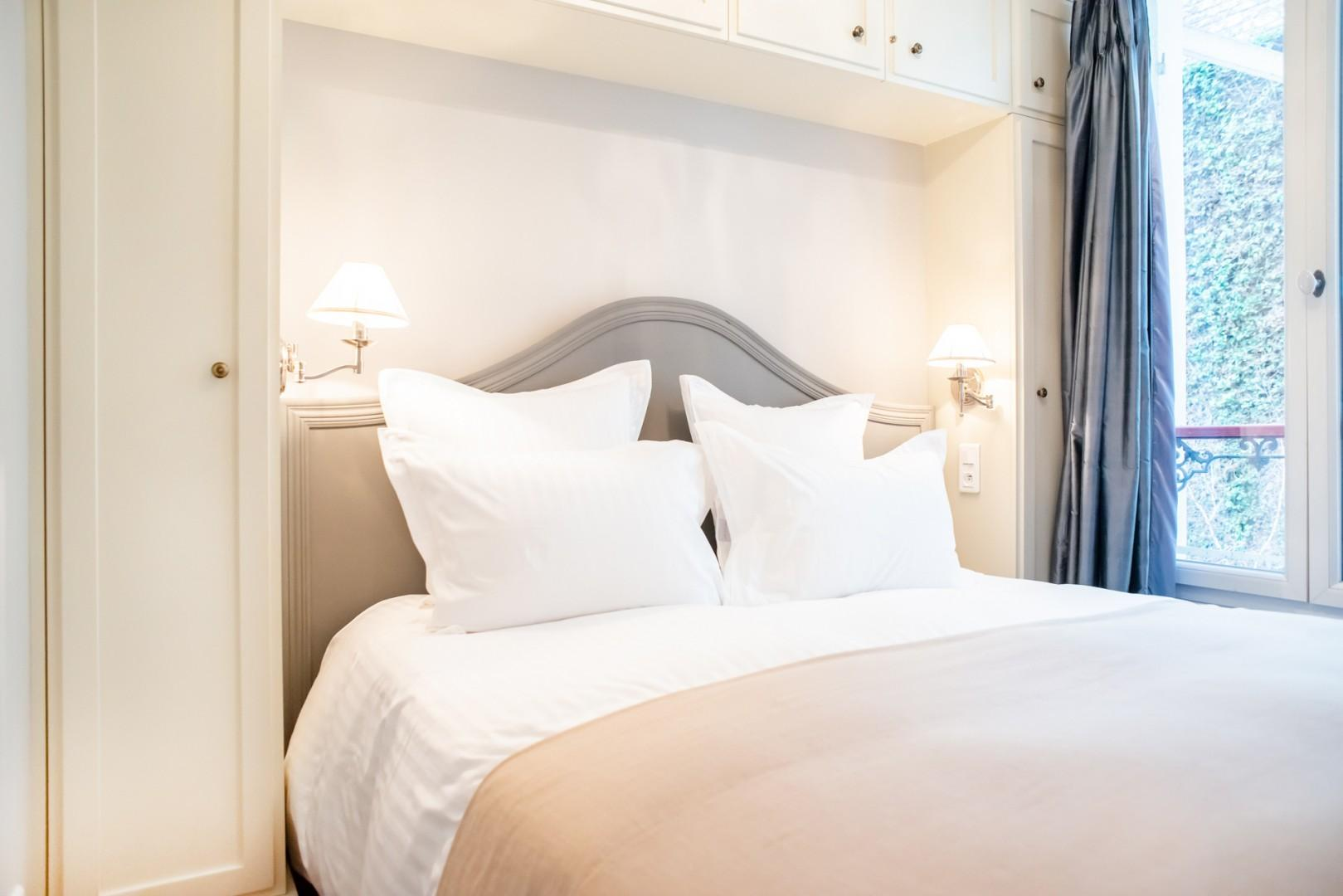 Bedroom 2 is equipped with two comfortable beds, which can be zipped together.