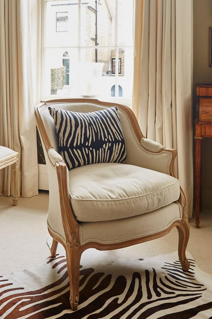 Elegant chair in the living room