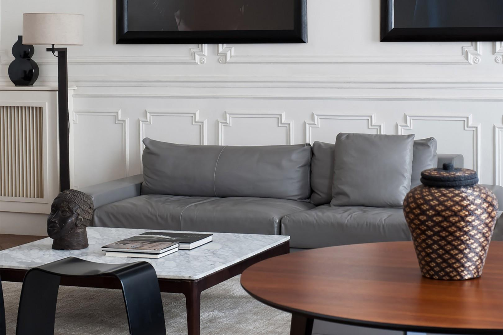 Relax on the comfortable sofas in the living room.