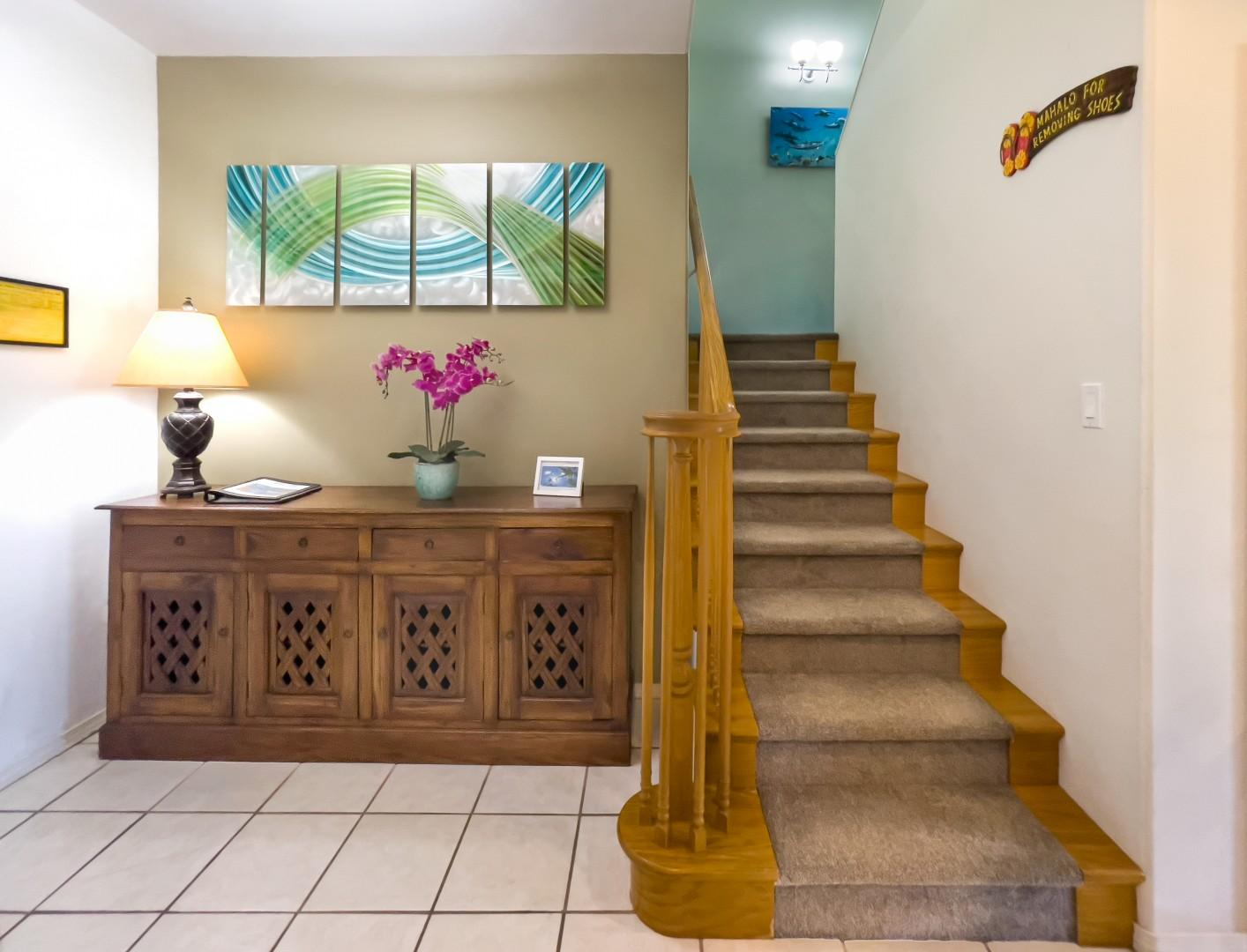 Entry Hall and Staircase to Upstairs Bedrooms