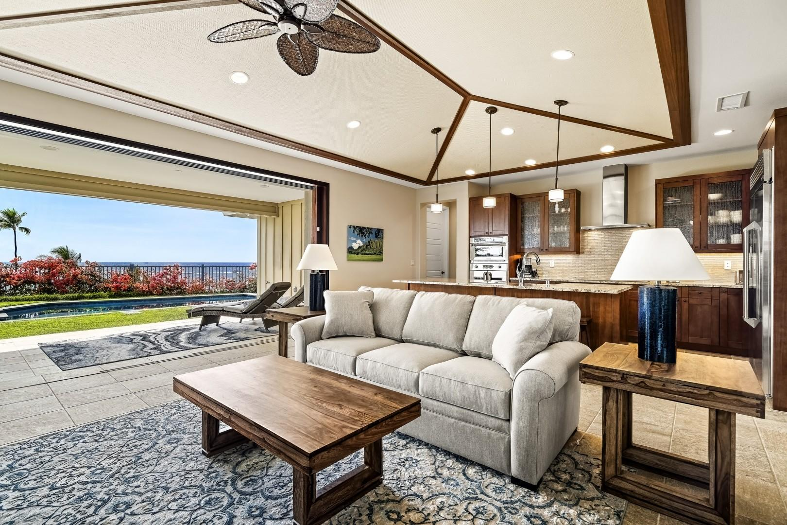 Open sightlines from the living area