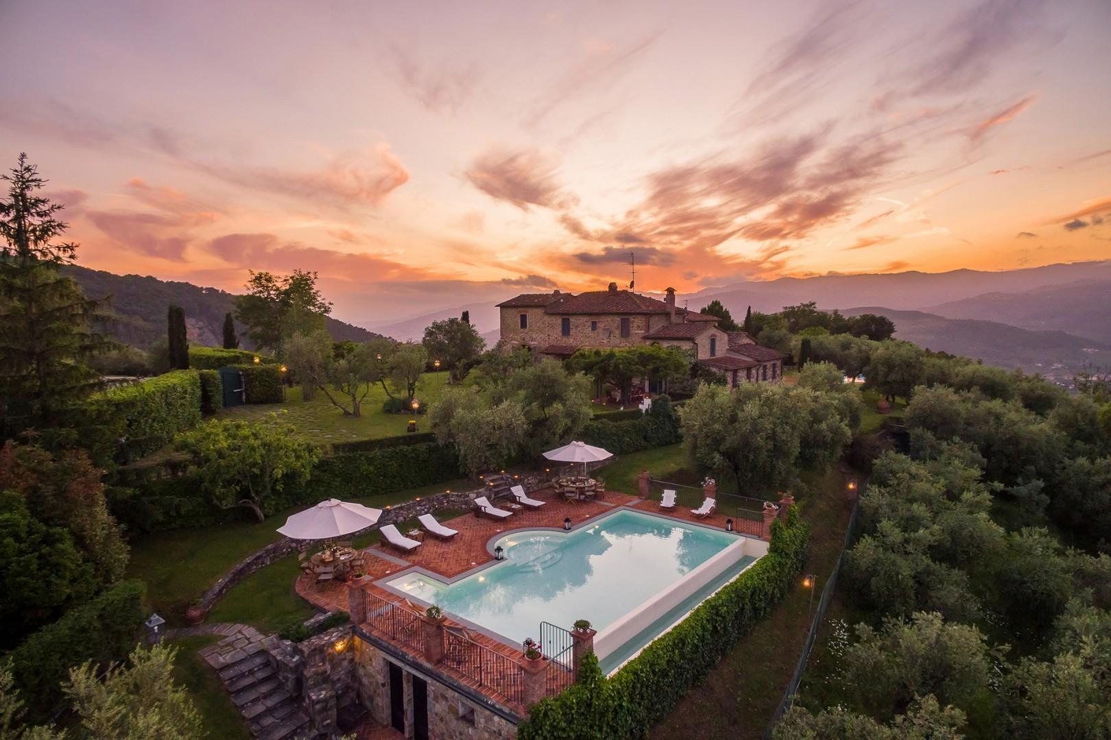 Spectacular views stretching out over the valley overlooking Montecatini Terme.