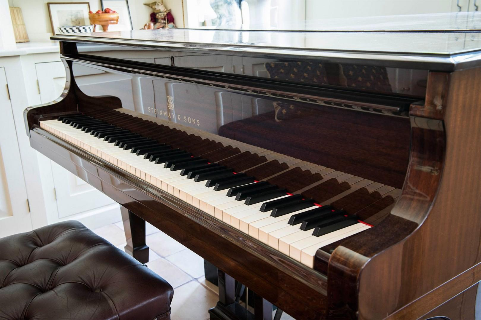 Piano in the library at Prince Albert