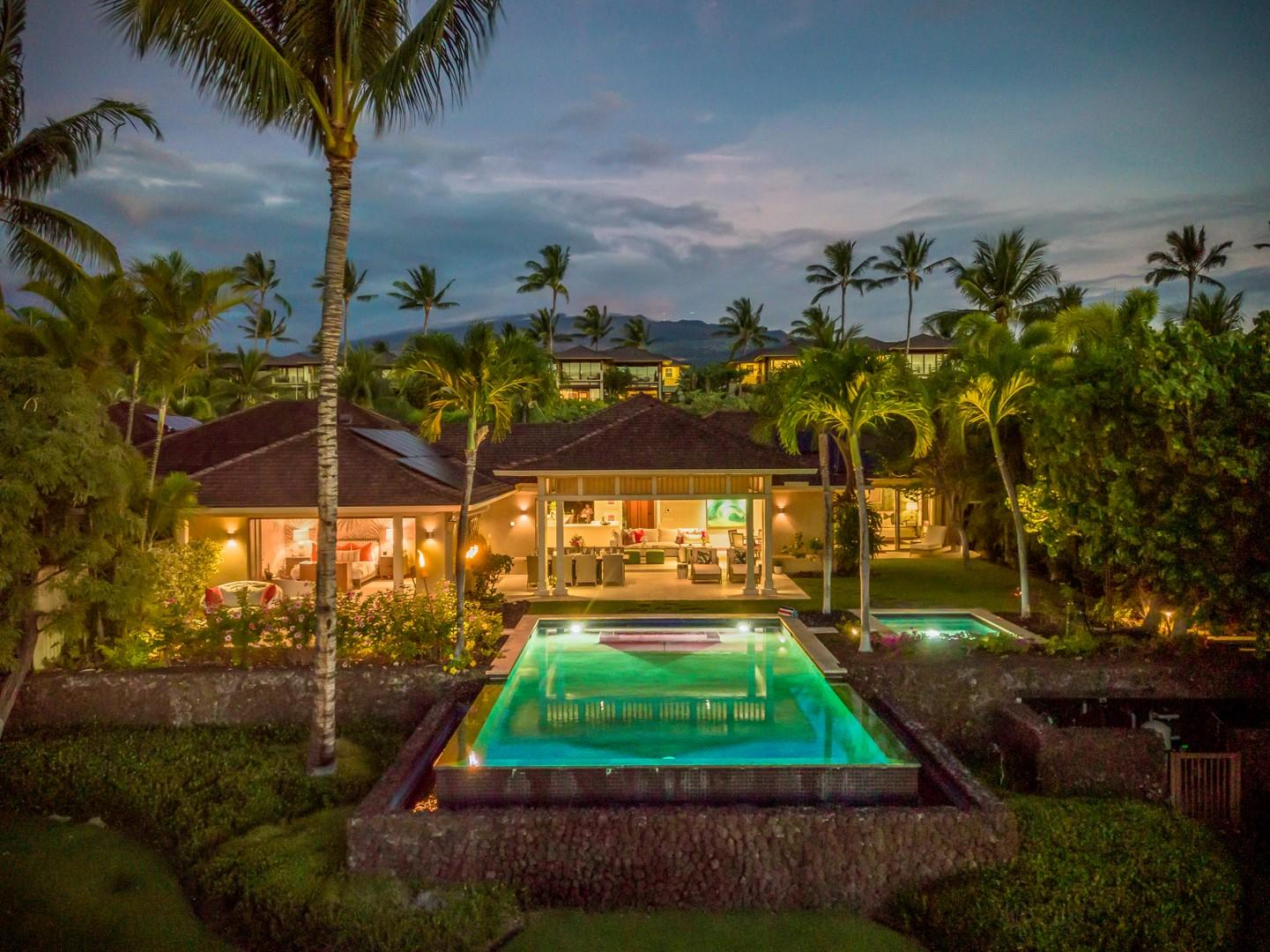 Luxury meets serenity, the view from your private pool in paradise.