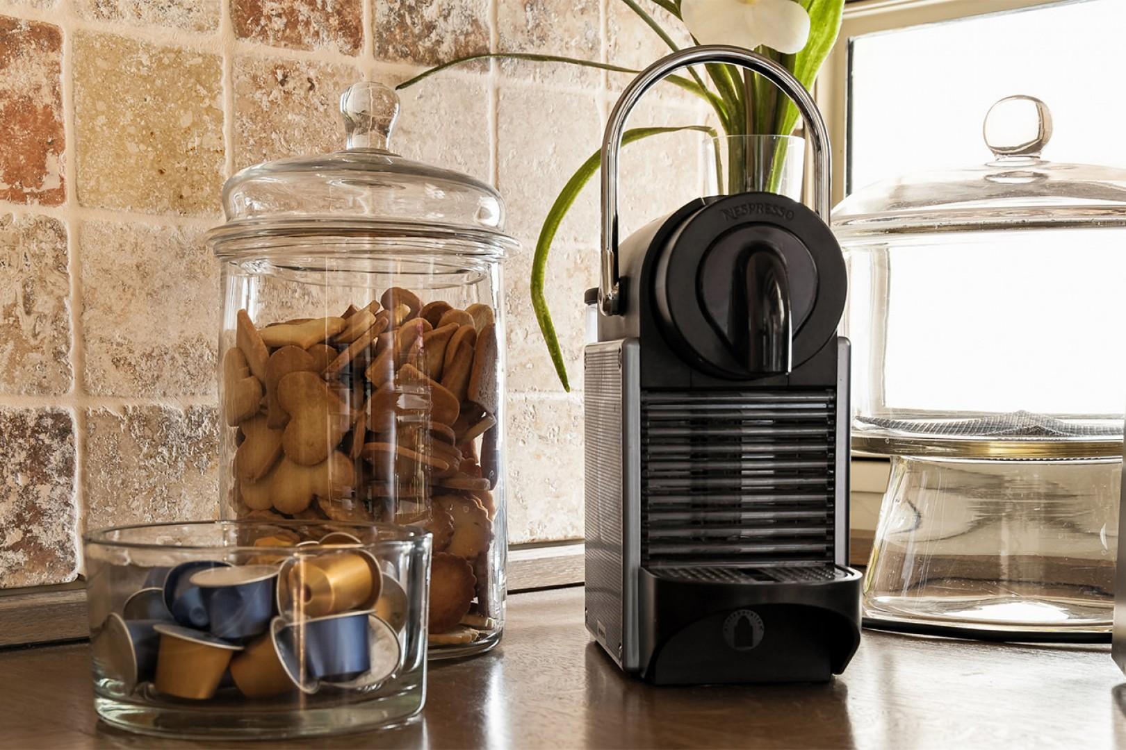Brew fresh coffee daily with your Nespresso machine.