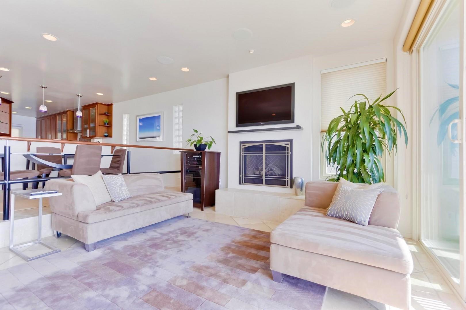 Step down living room