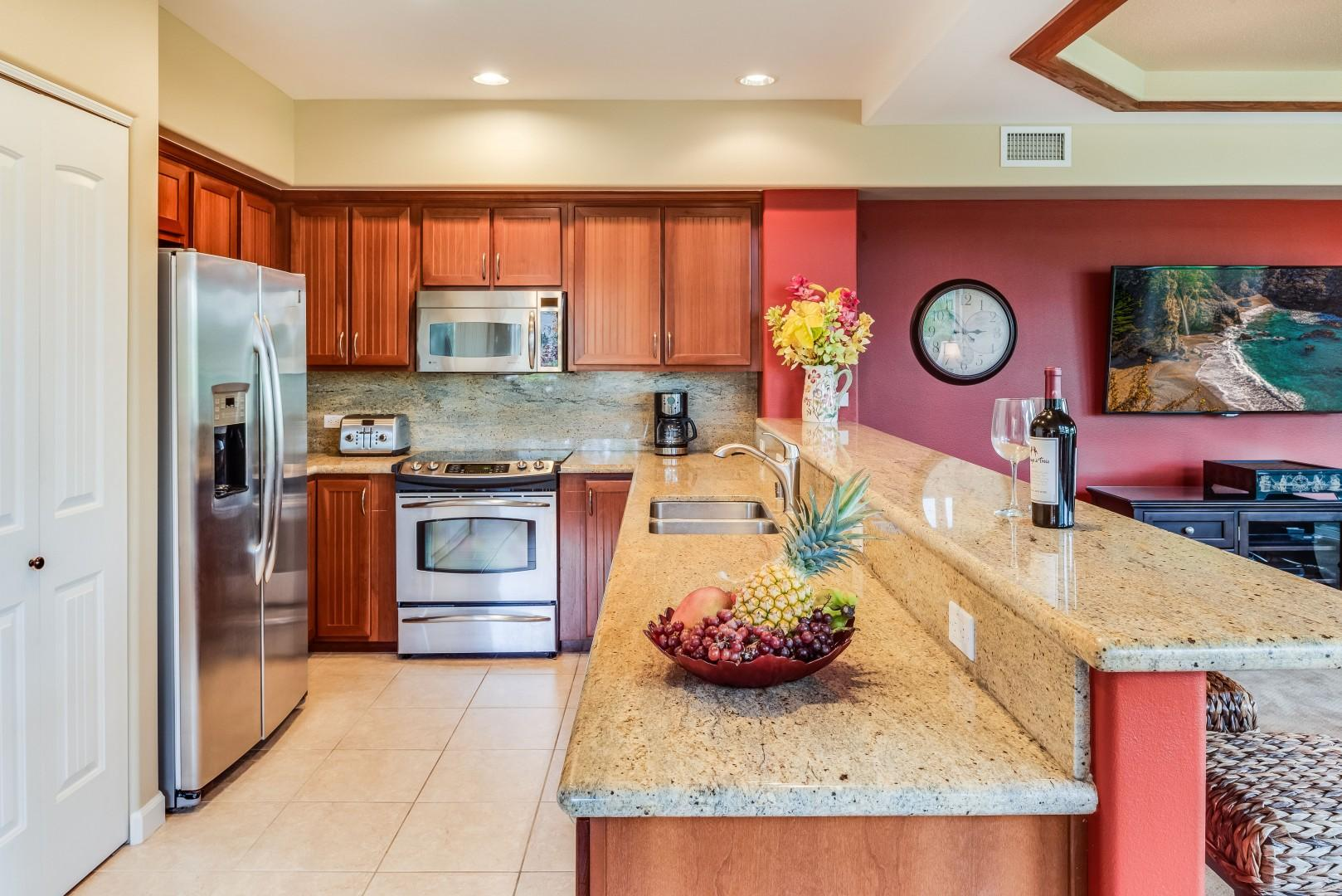 Spacious & Open Kitchen Fully Equipped for All Your Cooking Needs