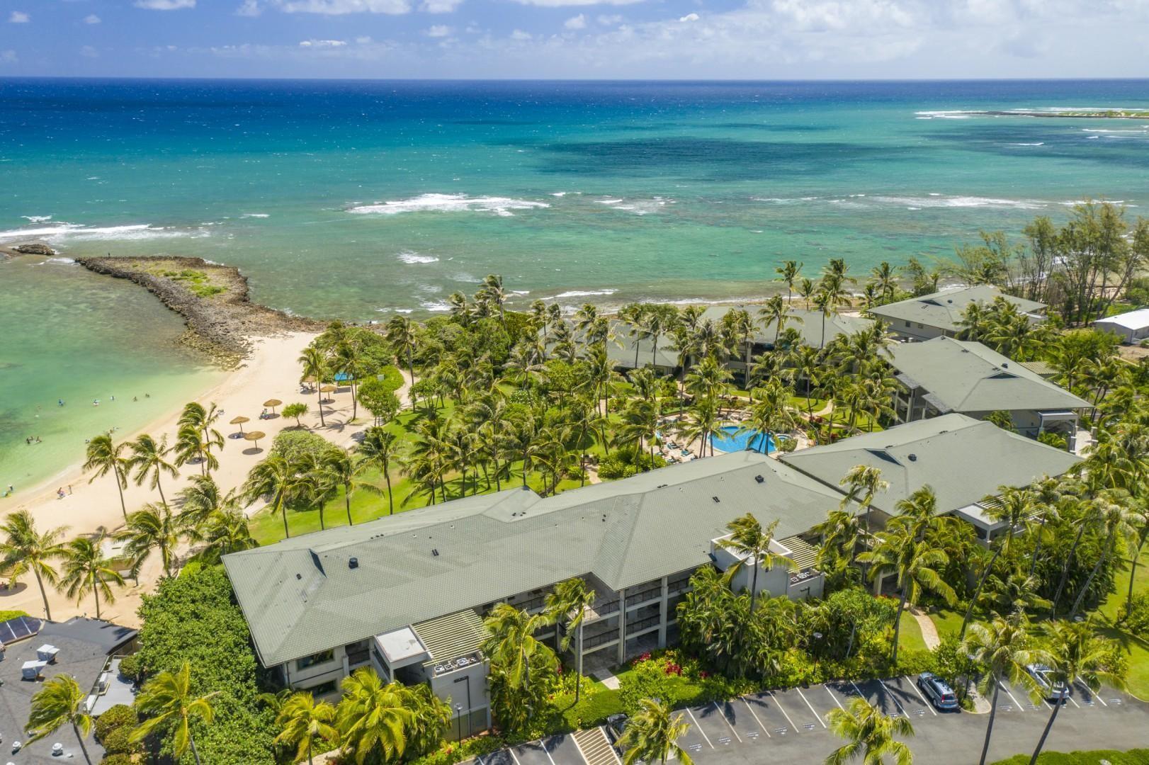 Ocean villa aerial view