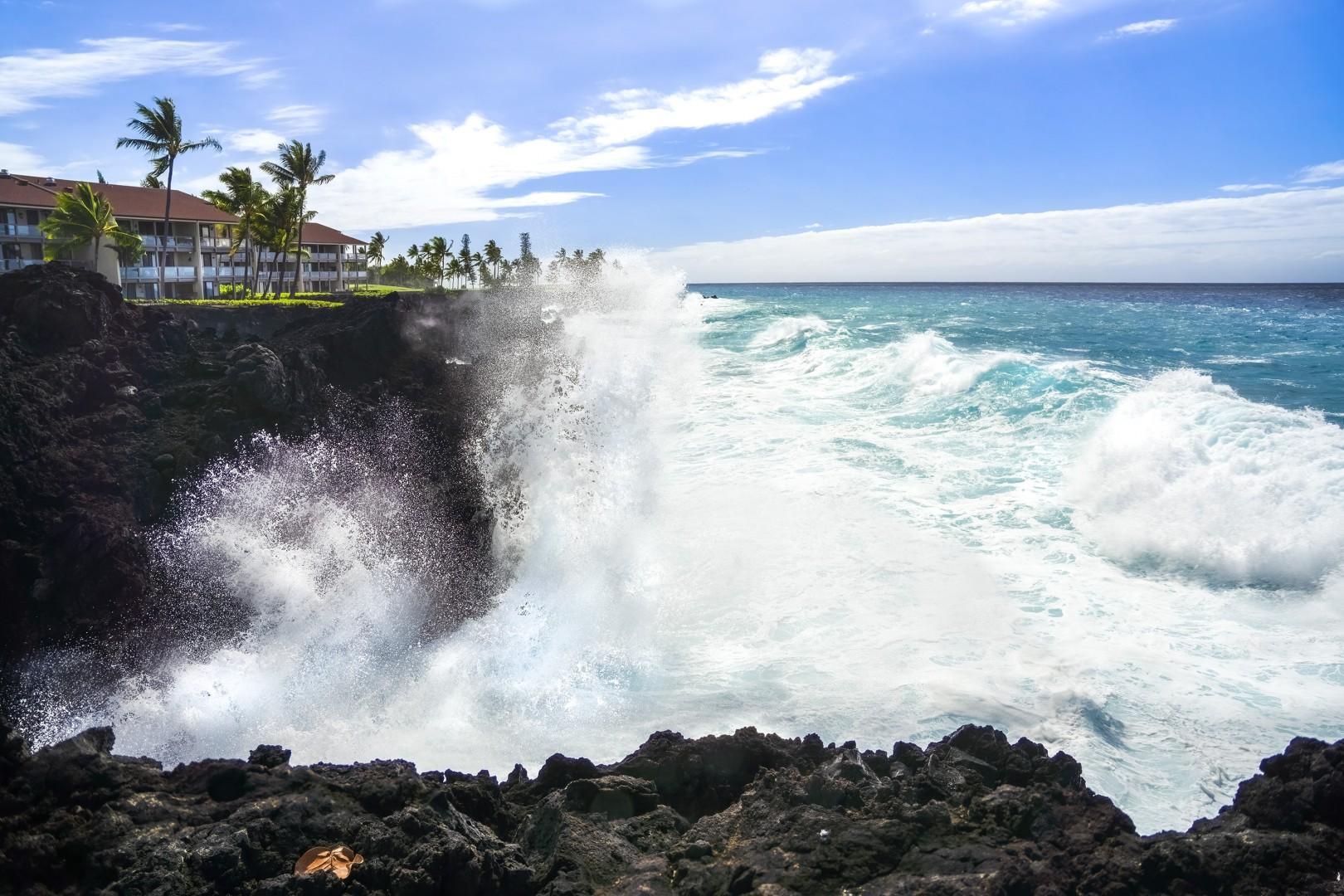 Oceanfront Cliff Waves