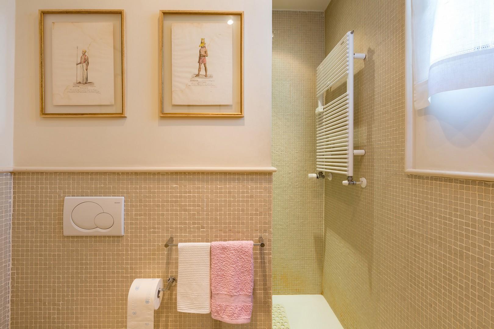 Large shower in bathroom that is en suite to bedroom 3.