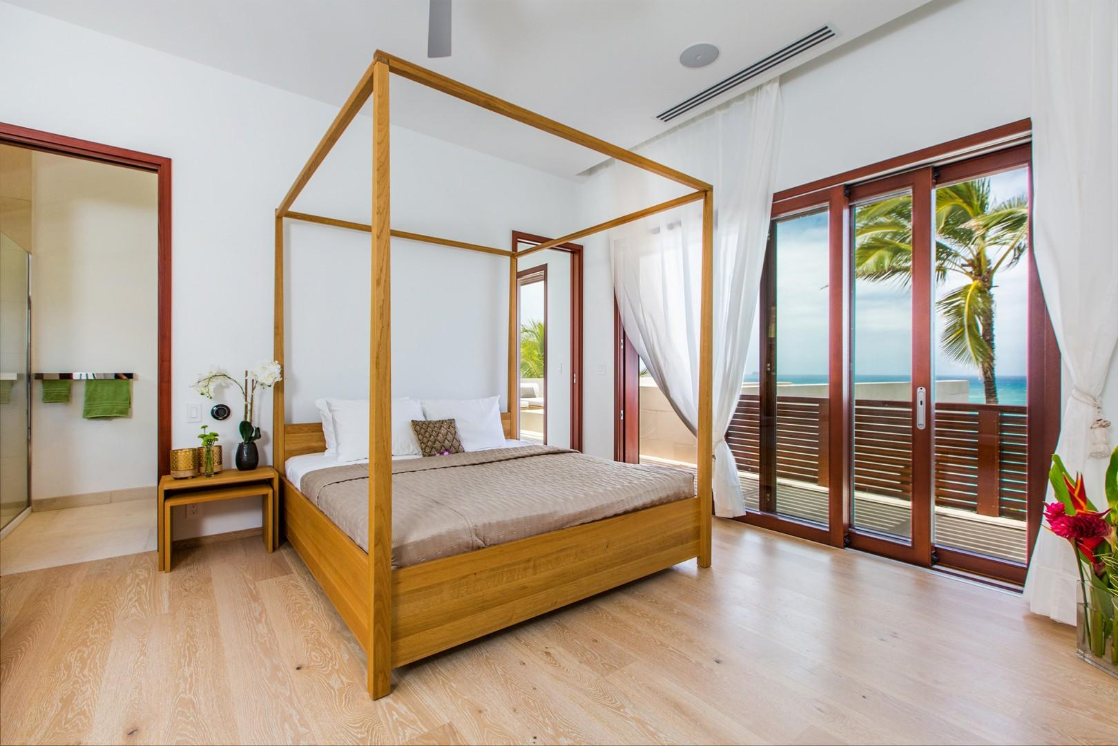 Upstairs guest bedroom 4 with ocean views