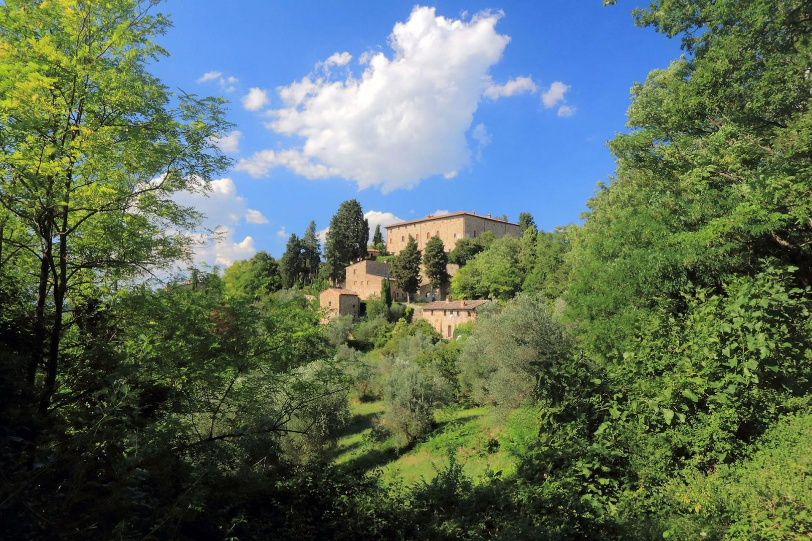 Just up the road is Castello Niccolo. It is about 100 yards distant.