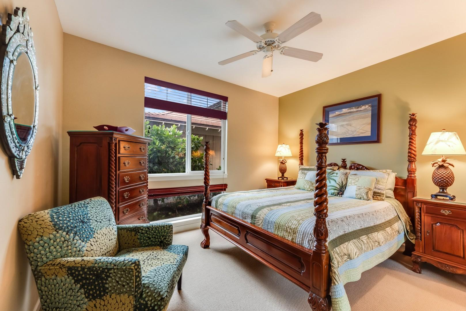 Downstairs Guest Room 3 w/ Queen Bed & Adjacent Bath