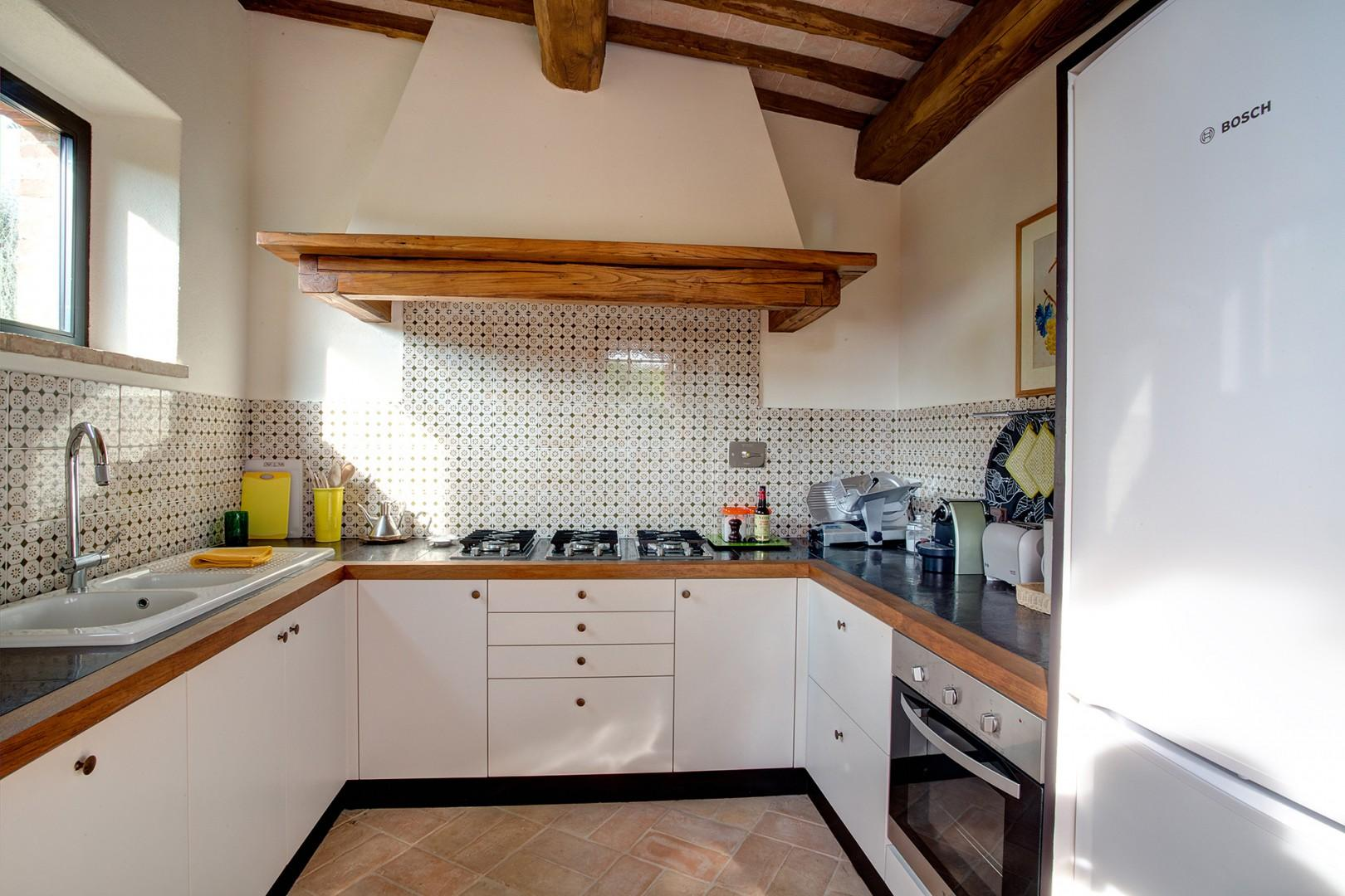 Modern kitchen with all the conveniences. Cook prepares lunch or dinner for you Monday thru Saturday