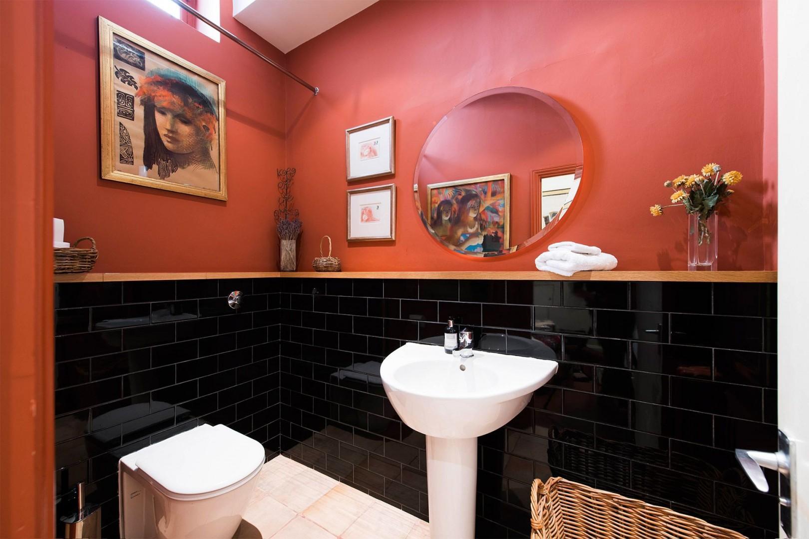 Convenient half bath on the ground floor
