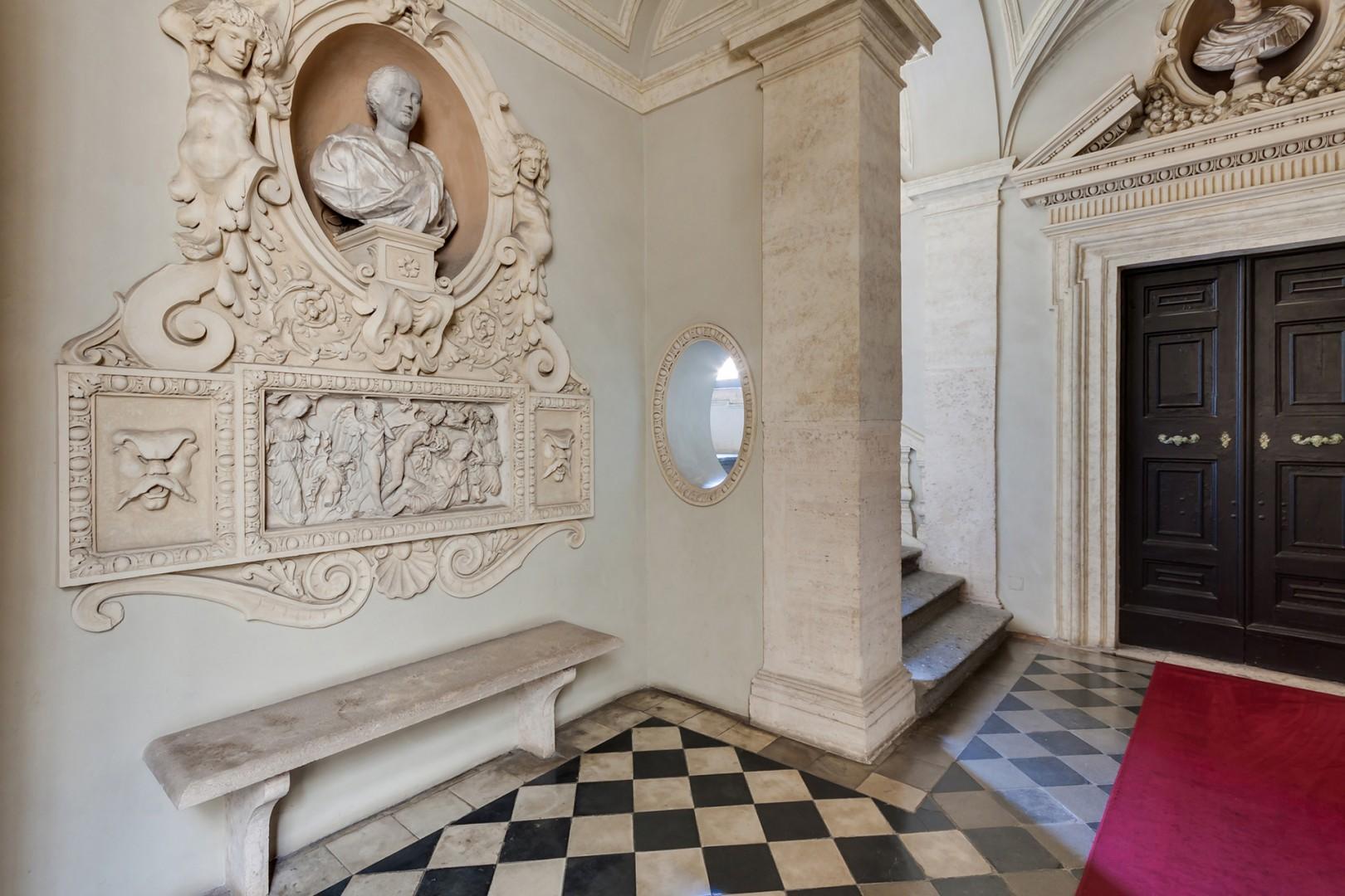 History haunts the halls of the palazzo.