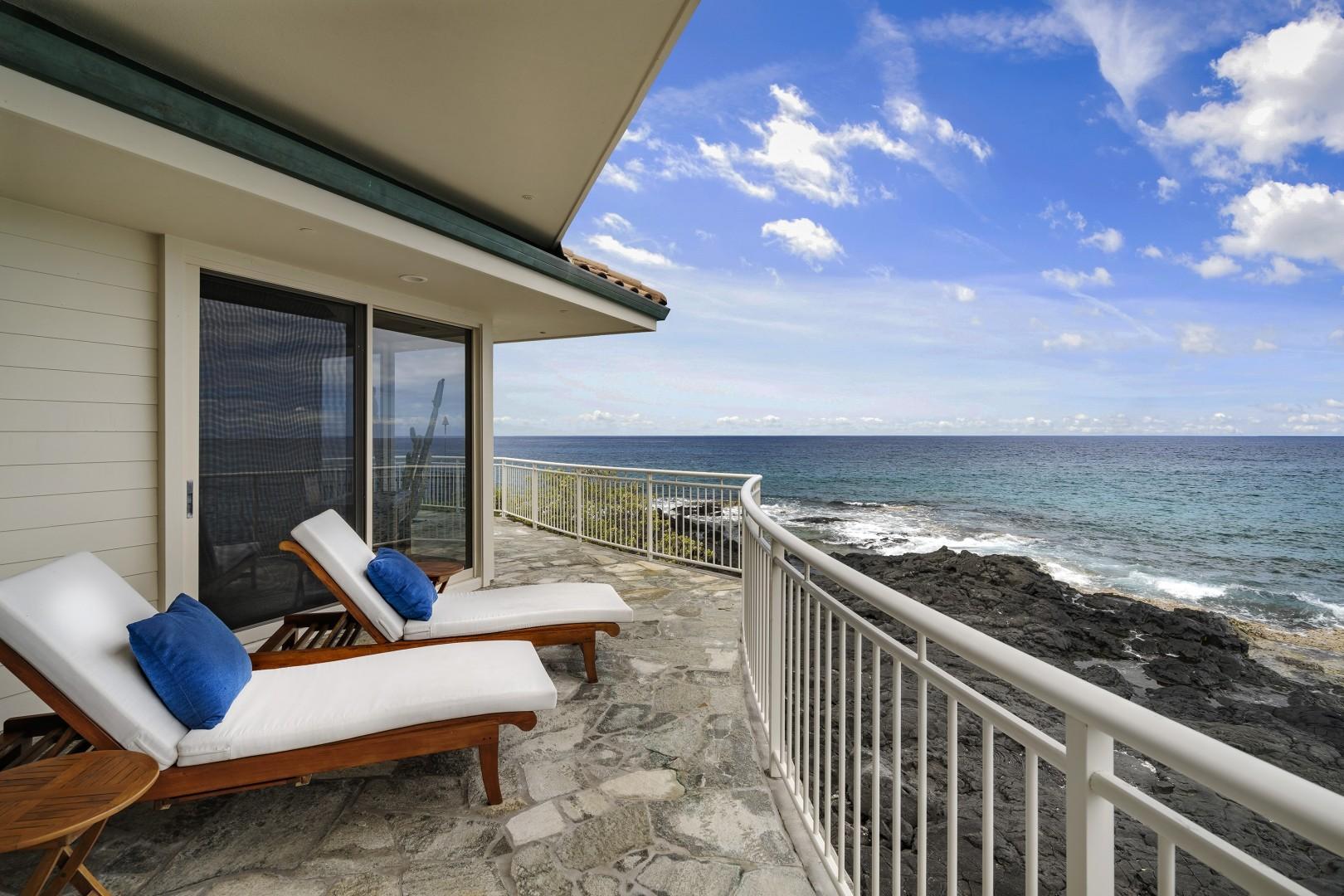 Lounge on the expansive wraparound Lanai!