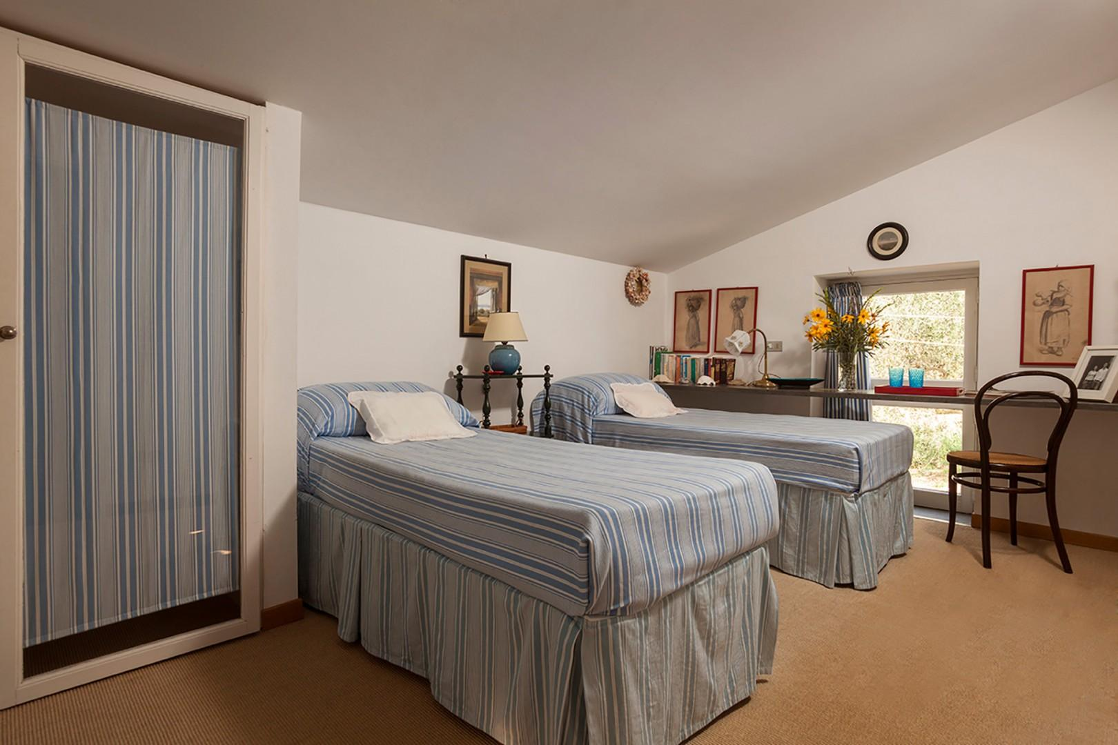 Bedroom 5 on the top floor can be made up as one large bed or remain two separate beds.
