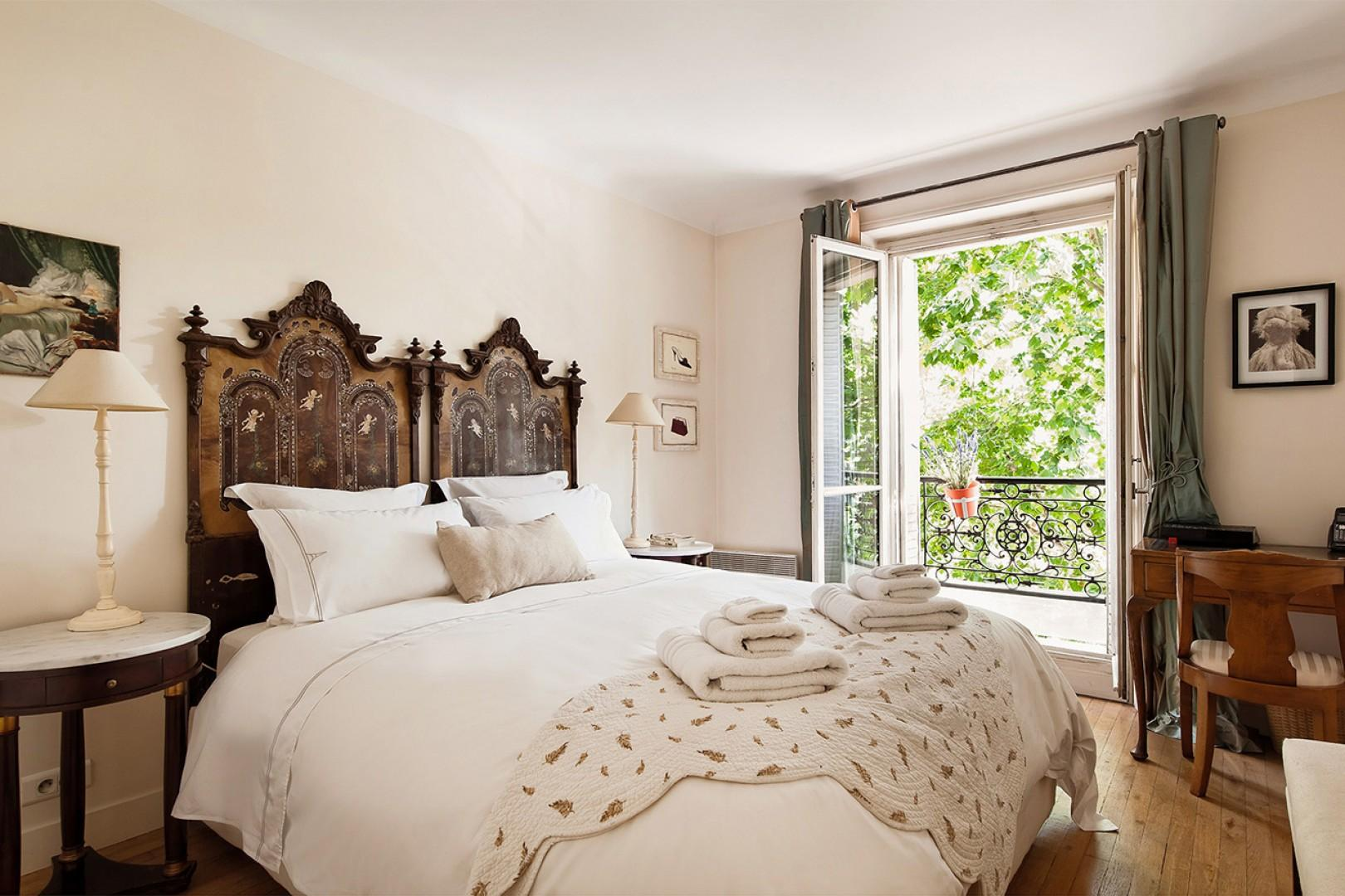 Enjoy the romantic bedroom in a beautiful French style.