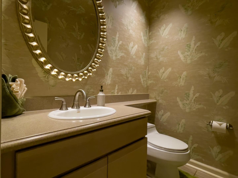 Elegant Half-Bath Downstairs Near Kitchen