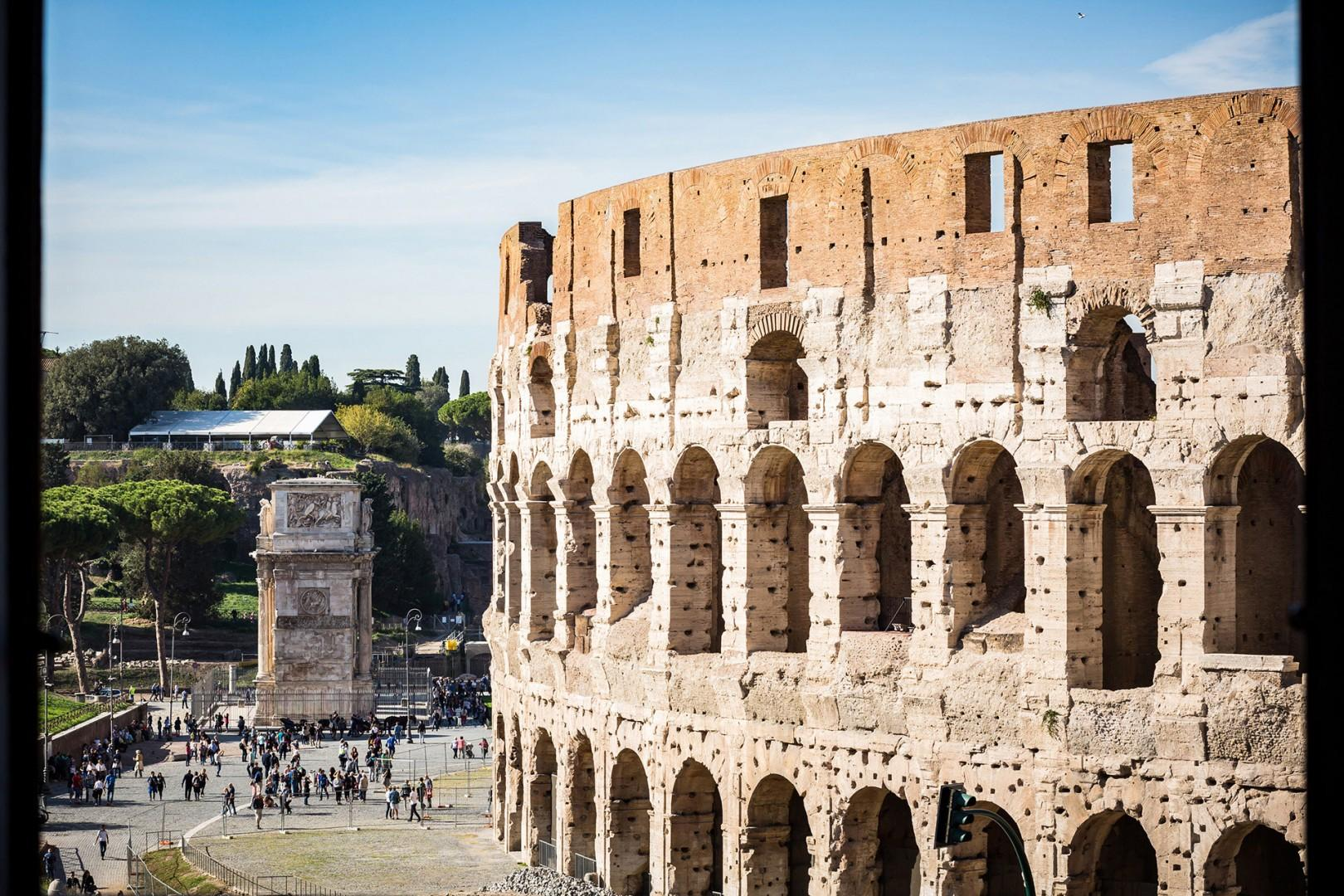 Another spectacular view of the Coliseum.