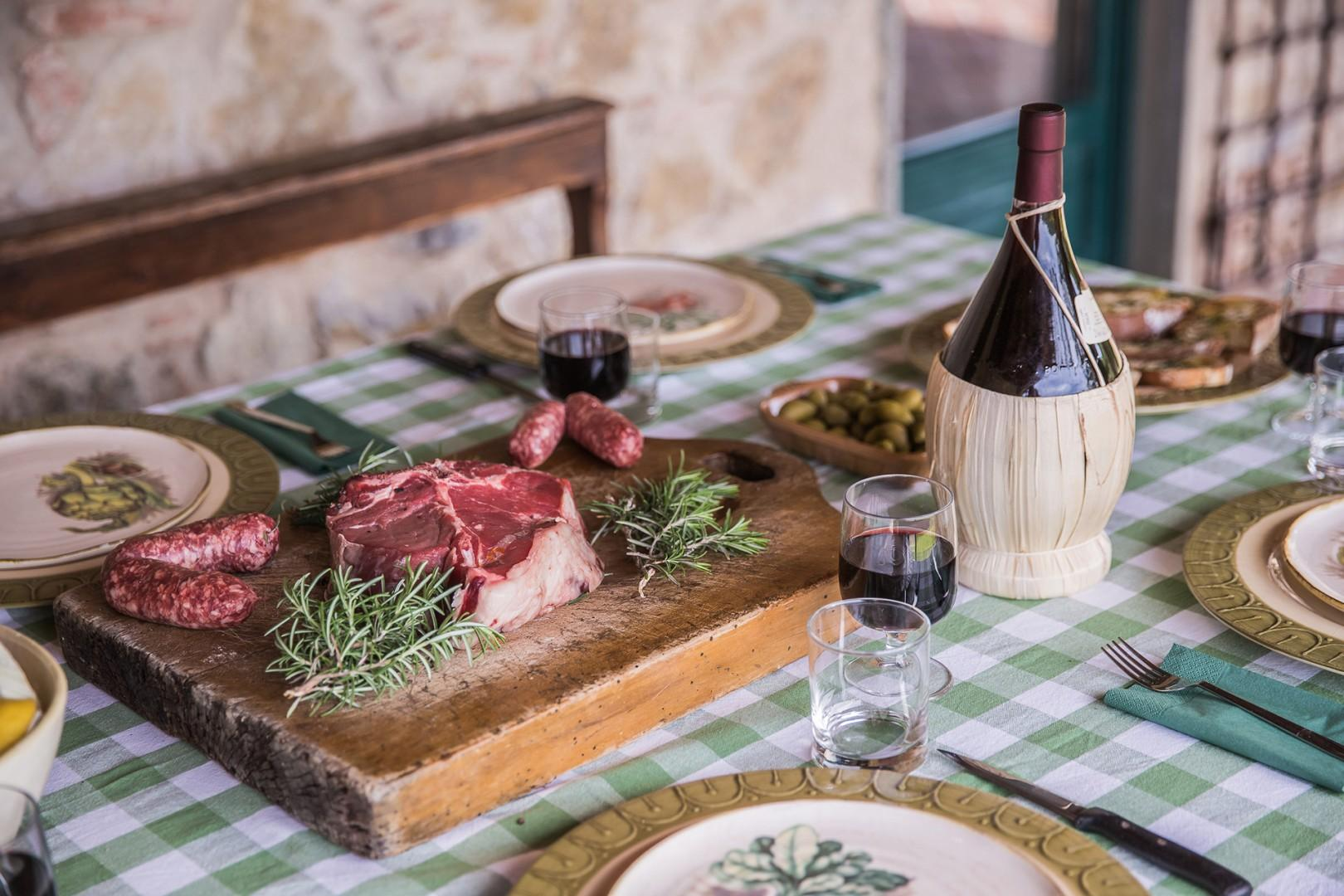 Tuscany is famous for Chianina beef, one of the oldest breeds of cattle in the world.