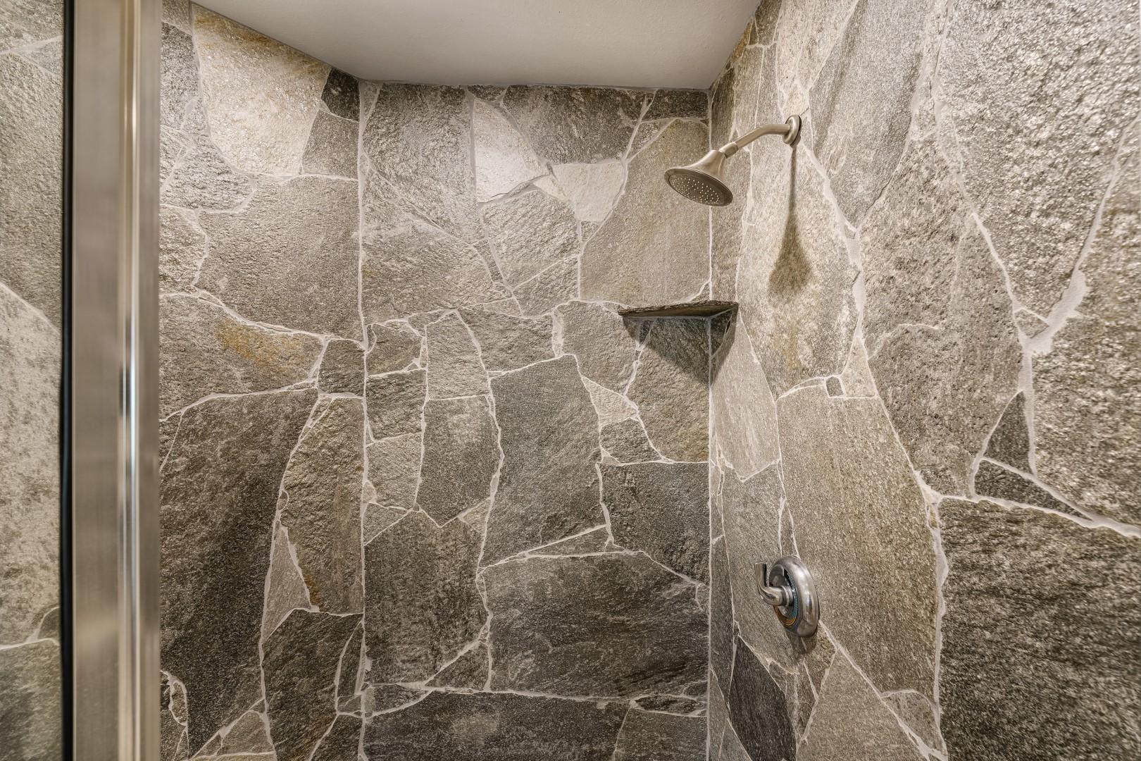 detached guest bathroom shower
