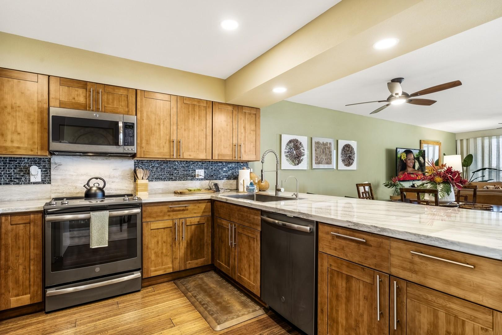 Fully renovated kitchen makes meal preparation a breeze!